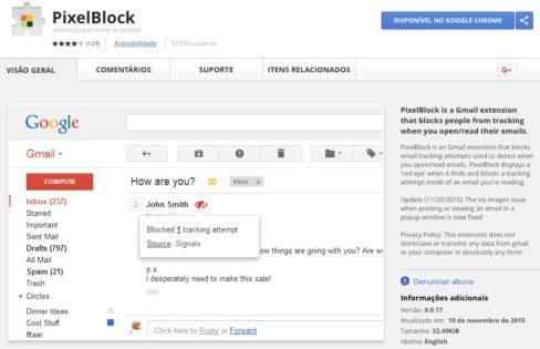 PixelBlock - Google Chrome Extension