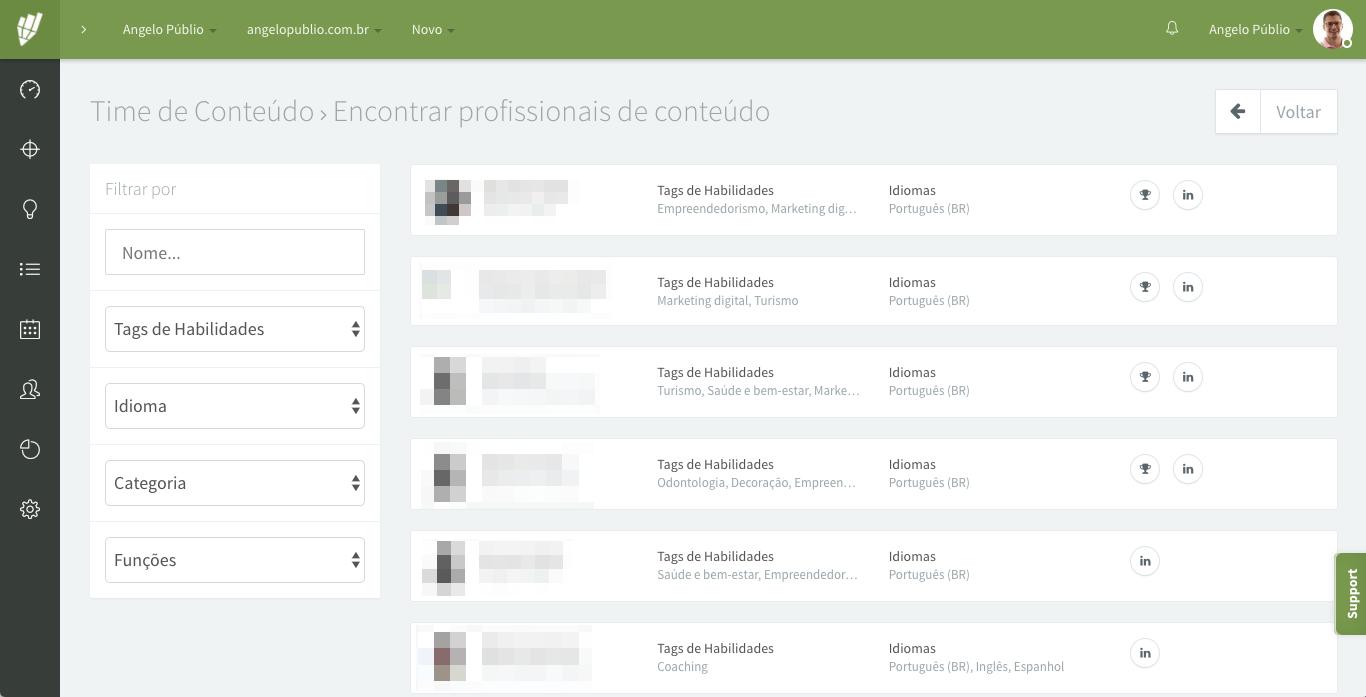Time de Conteúdo - Encontrar profissionais de conteúdo - Contentools