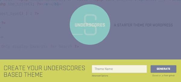 Underscores - A Starter Theme for WordPress