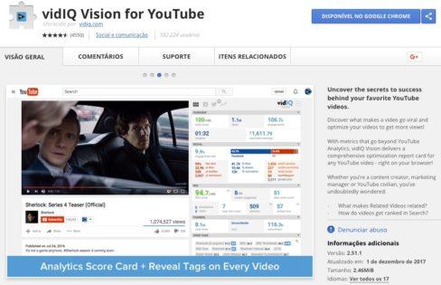 vidIQ Vision for YouTube - Google Chrome Extension