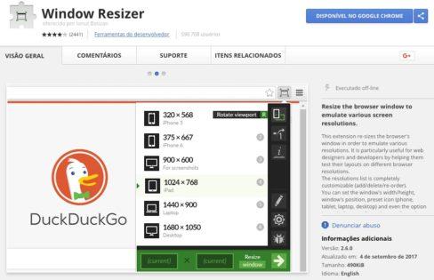Window Resizer - Google Chrome Extension