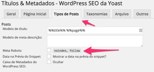 WordPress SEO Yoast - Titulos Metadados