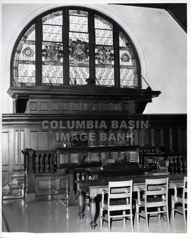 2276.0003 Interior of Rossland Court House, 1967