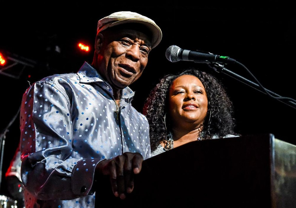 Buddy Guy and his daughter Carlise Guy who performed at the event