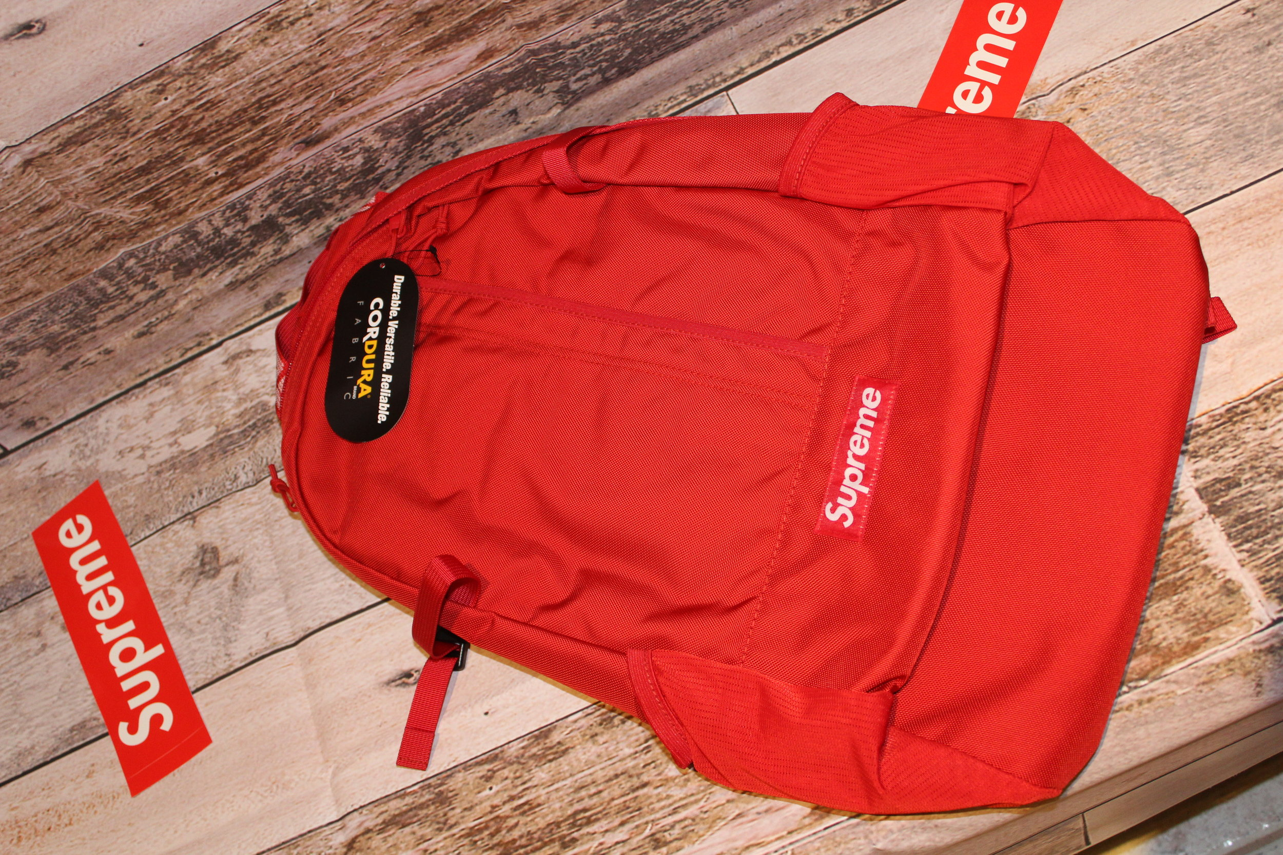 61186963cc7e SUPREME BACKPACK SS18 RED
