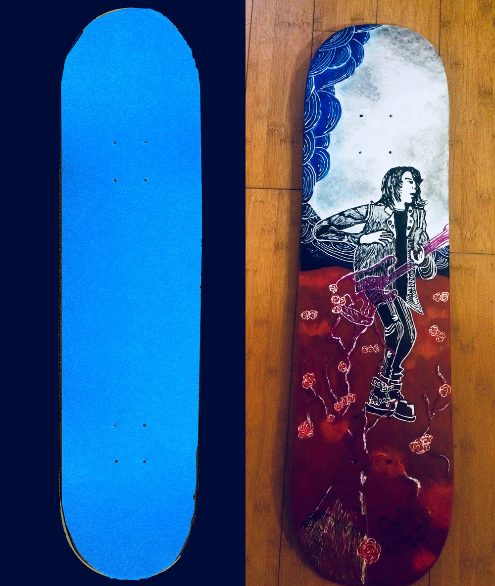 "Custom ""Only Roses"" Skateboard"