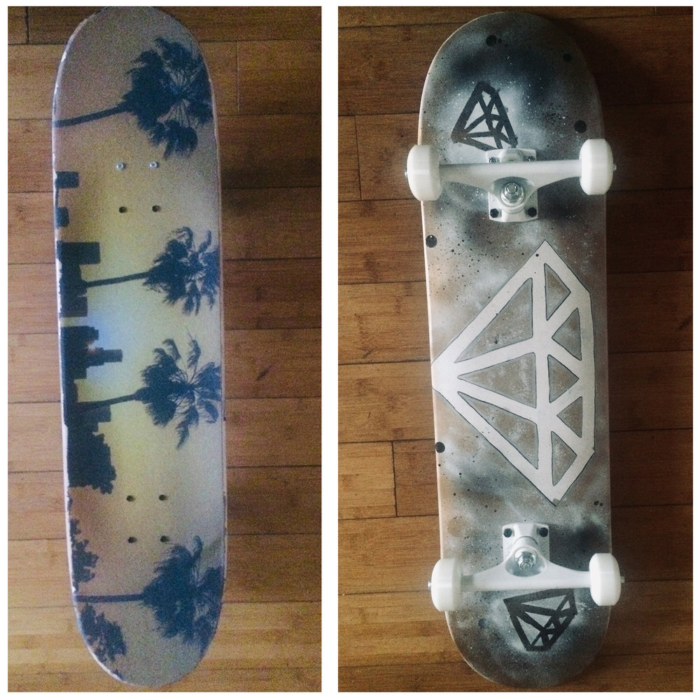 Custom Diamond Skateboard