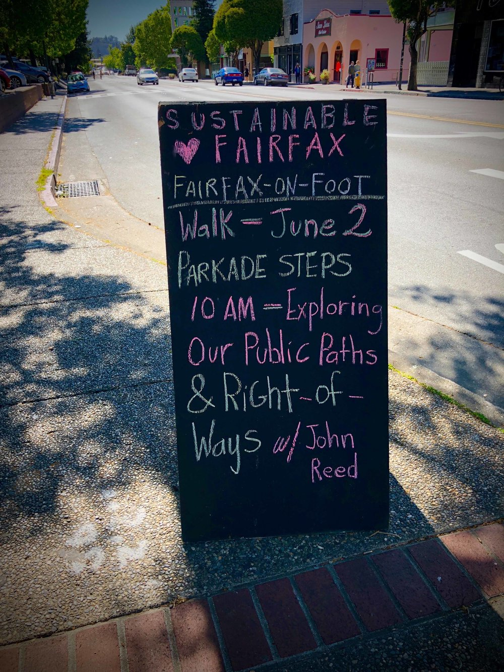 sustainable Fairfax CA sign
