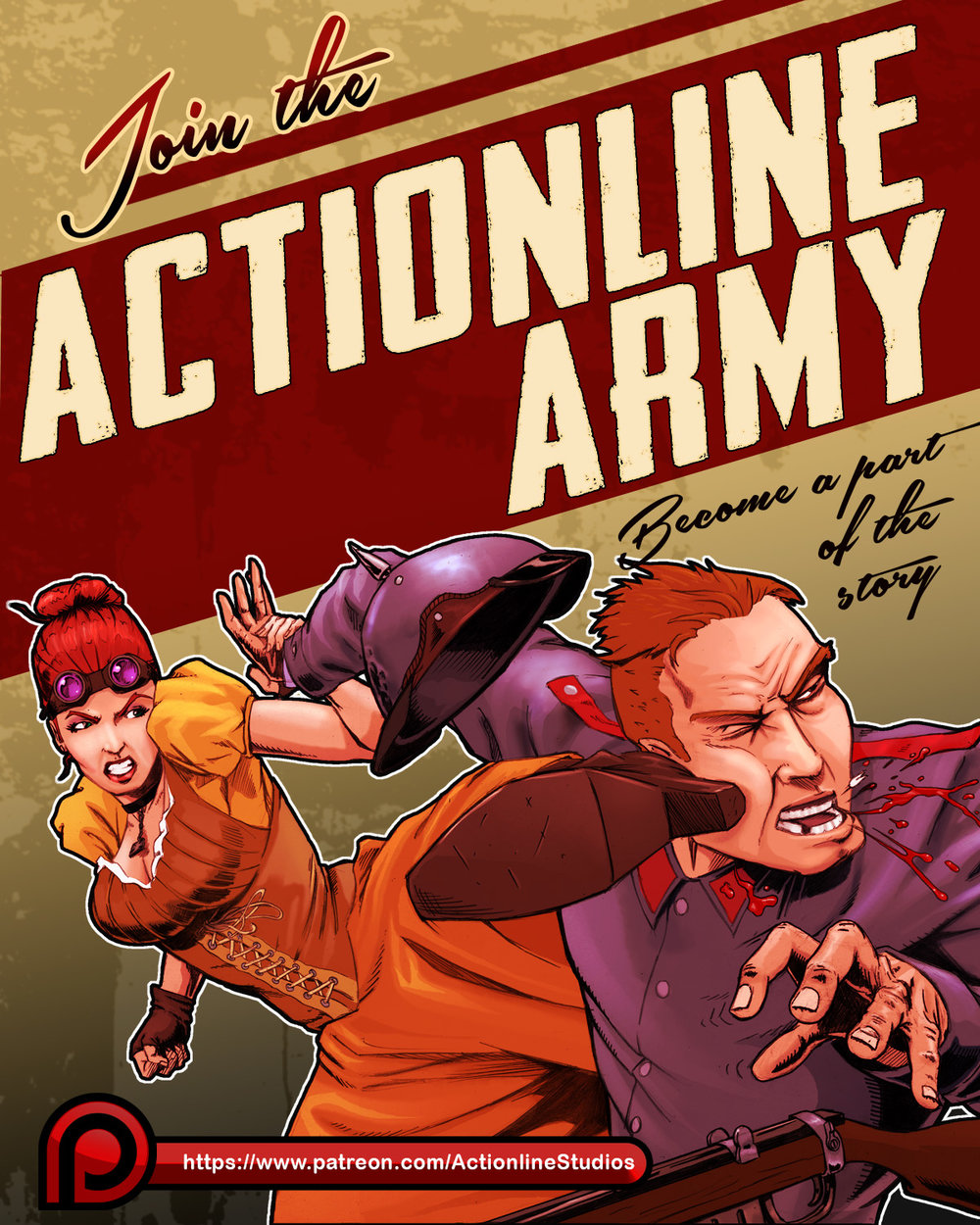 Join the Actionline Studios Patreon to help support indie comics