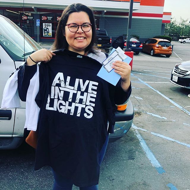 Shoutout to @rhubypie for buying tickets to our show at the rose next Saturday!! We're beyond thankful for your support ♥️ enjoy the show as well as your AITL t-shirts!!! For anyone who hasn't gotten tickets to our show, you can get them for $24 pre-sale through us. DM for more info ✨