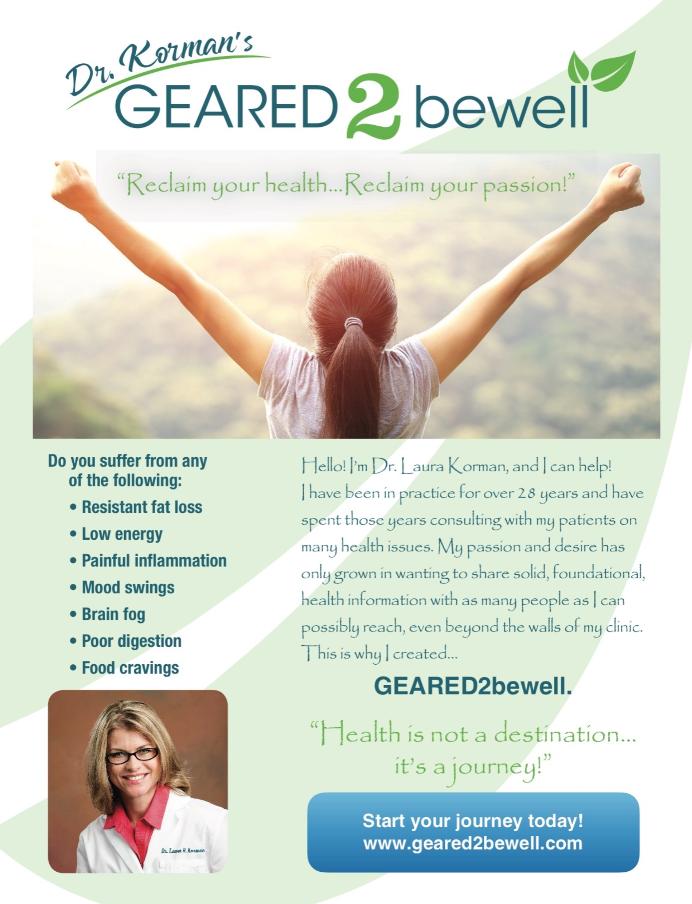 Dr  Korman's GEARED2bewell Online — Dr  Laura Korman