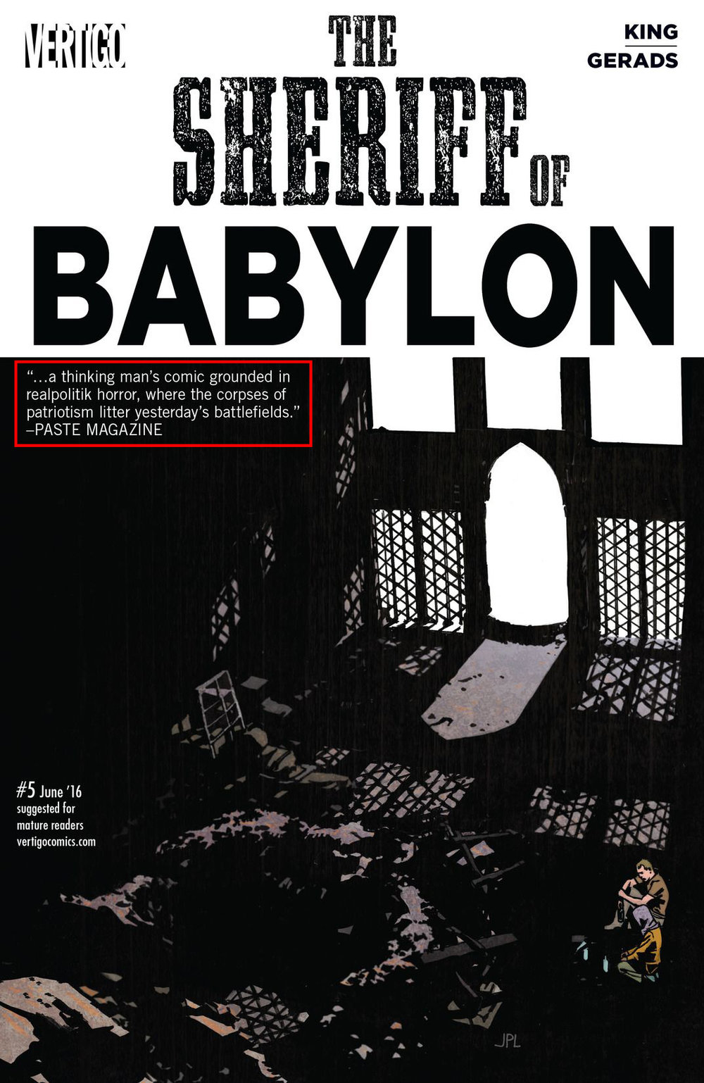 The Sheriff of Babylon  #5, by Tom King and Mitch Gerads