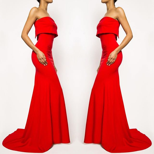 Last ones, our Veronica gown is the classic red dress every woman has to have. Get it at frockla.com