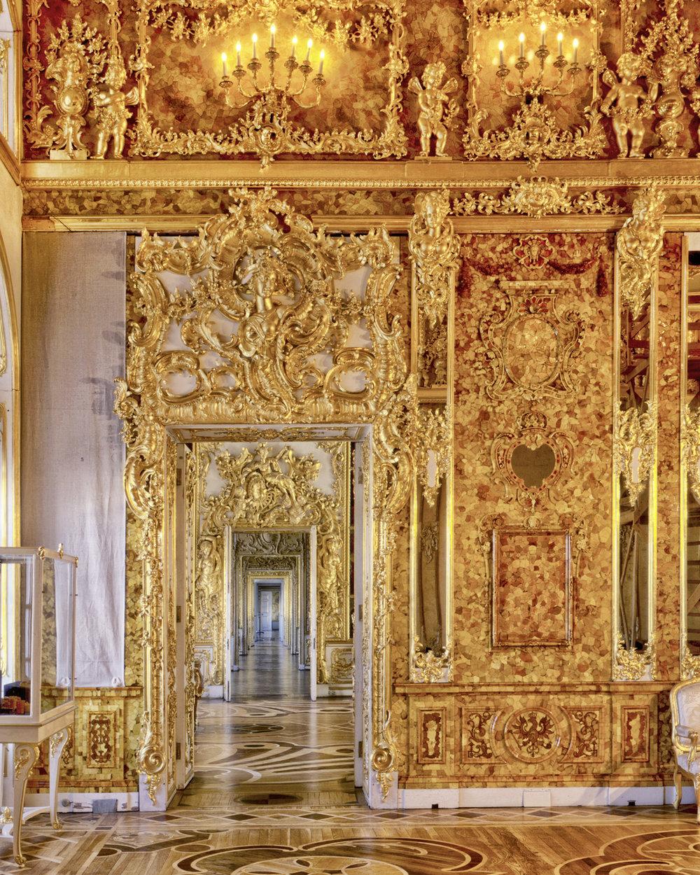 Amber Room, Catherine Palace - Tsarskoïé Selo (Pouchkine), Russia (1995)