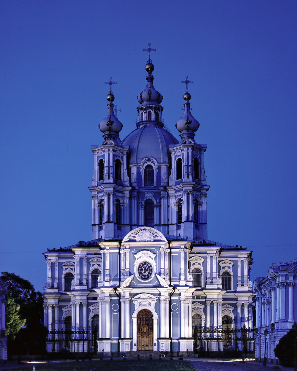 Smolny Monastery at Dusk - Saint Petersburg, Russia