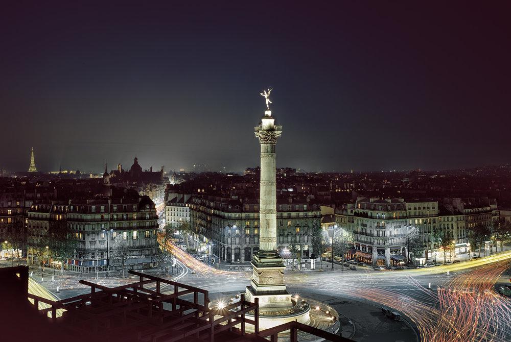 Place de la Bastille at Night