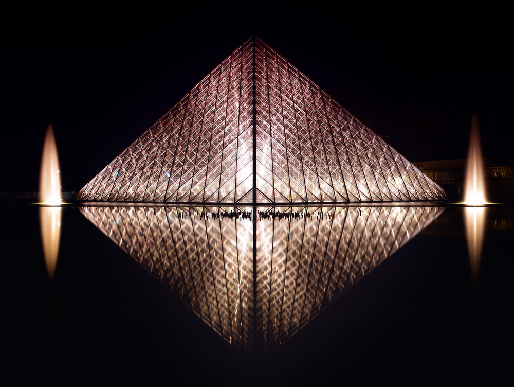 Pyramide du Louvre at Night