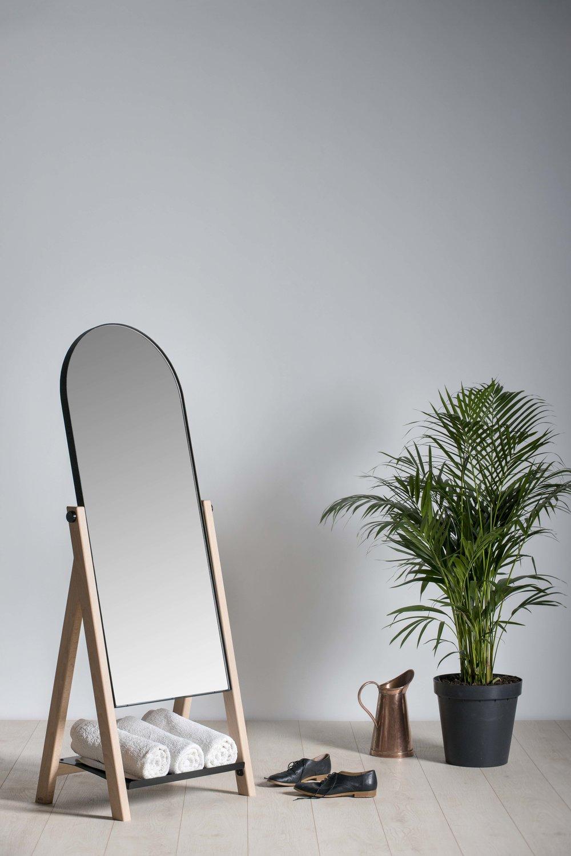 Slant Floor Mirror