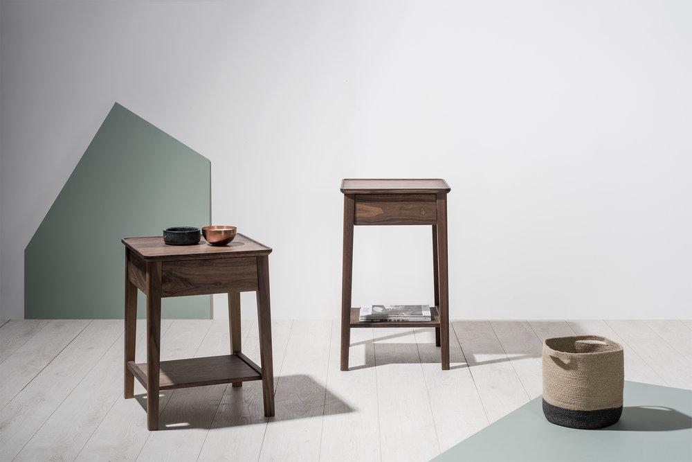 Neut Bedside Table w/ Shelf