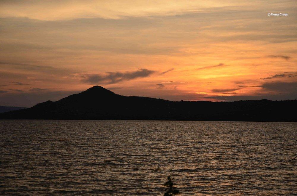 Sunset over Lake Victoria, Kenya