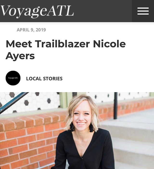 Honored by the opportunity to be interviewed by @voyageatl about my story and career! Representing busy babes everywhere who are STILL figuring it all out! . . . Click the link in my bio to read the interview. ✨ #busybabe #trailblazer