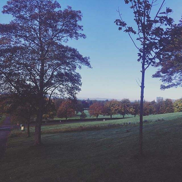 Perfect morning. Bellahouston Park
