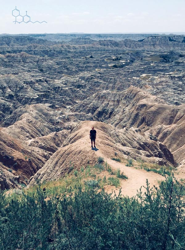 Hiking in Badland, SD. photo by Stella