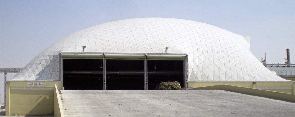Un edificio industrial de forma libre y estéticamente atractivo en Qatar