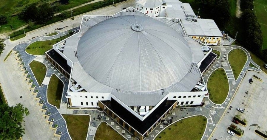 This dome covers the sanctuary and main nave of the Iglesia de Cristo Ebenezer in Honduras.