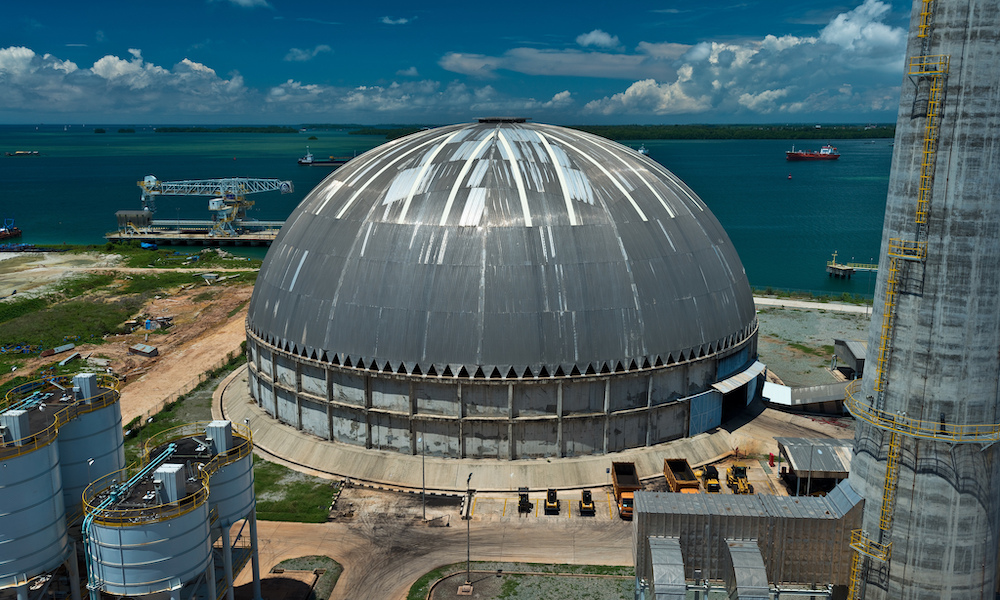 Copy of Finished dome as ancillary port infrastructure supporting imports and exports of materials