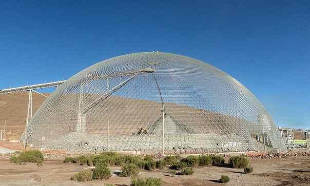 Bajo construcción: La Mina San Cristóbal es la mayor en Bolivia, con 140m.