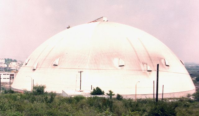 Avicultores sorghum silo, 95m span