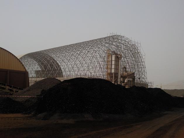 Longitudinal bulk storage under construction