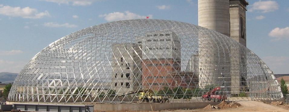 A 68m storage dome under construction in Kayseri, Turkey