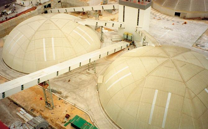 Two 68m domes, Mersin, Turkey