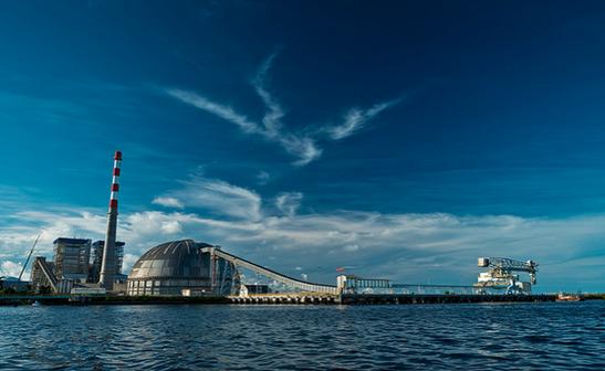 IKPT Pupuk Kaltim circular coal storage dome spanning 81m