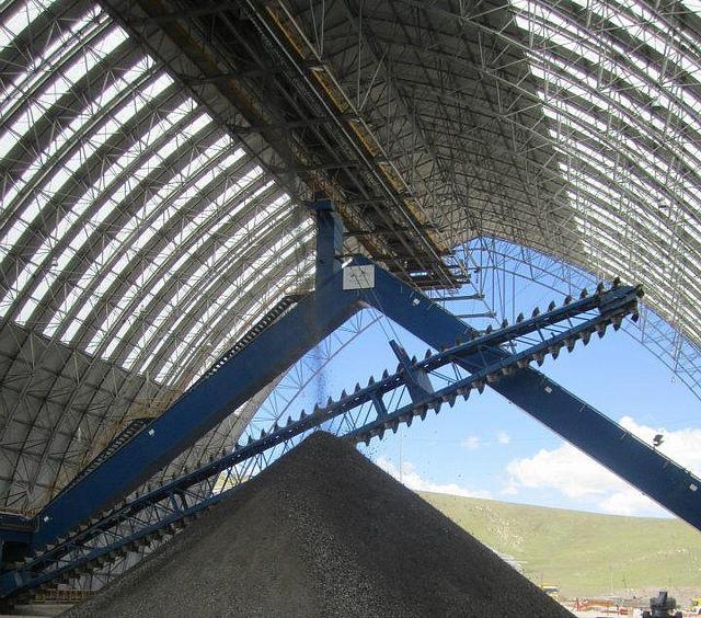 Mineral ore storage, Peru