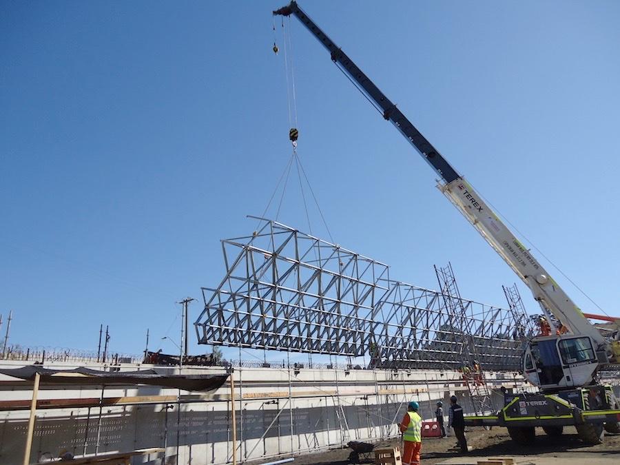 La construcción comienza
