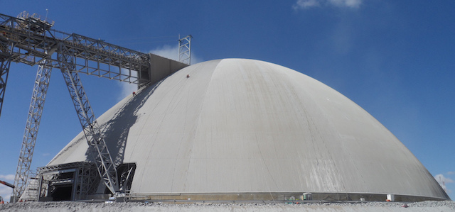 Existing equipment covered with our free-form dome