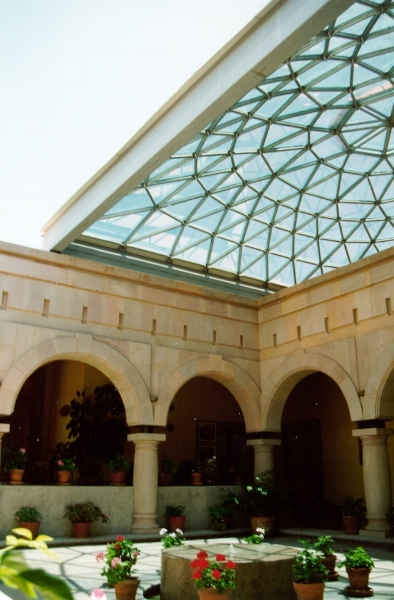 This dome covers a common area and can be opened to invite in fresh air and sunshine