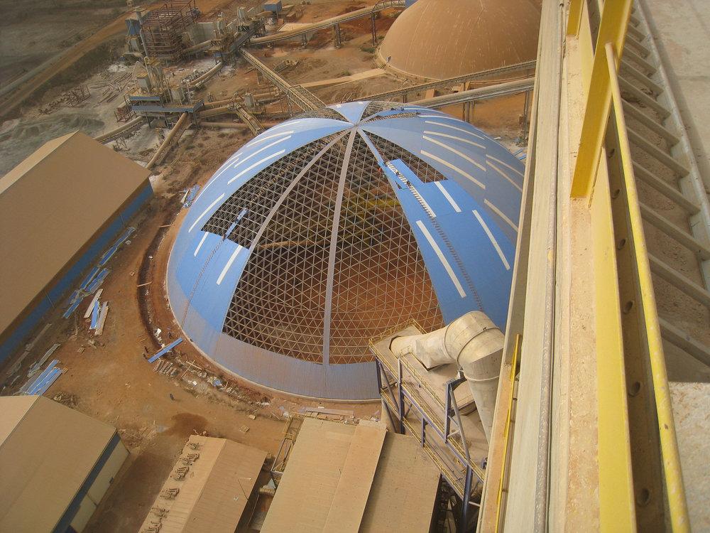 Un segundo domo de 94m de diámetro se agregó en Senegal