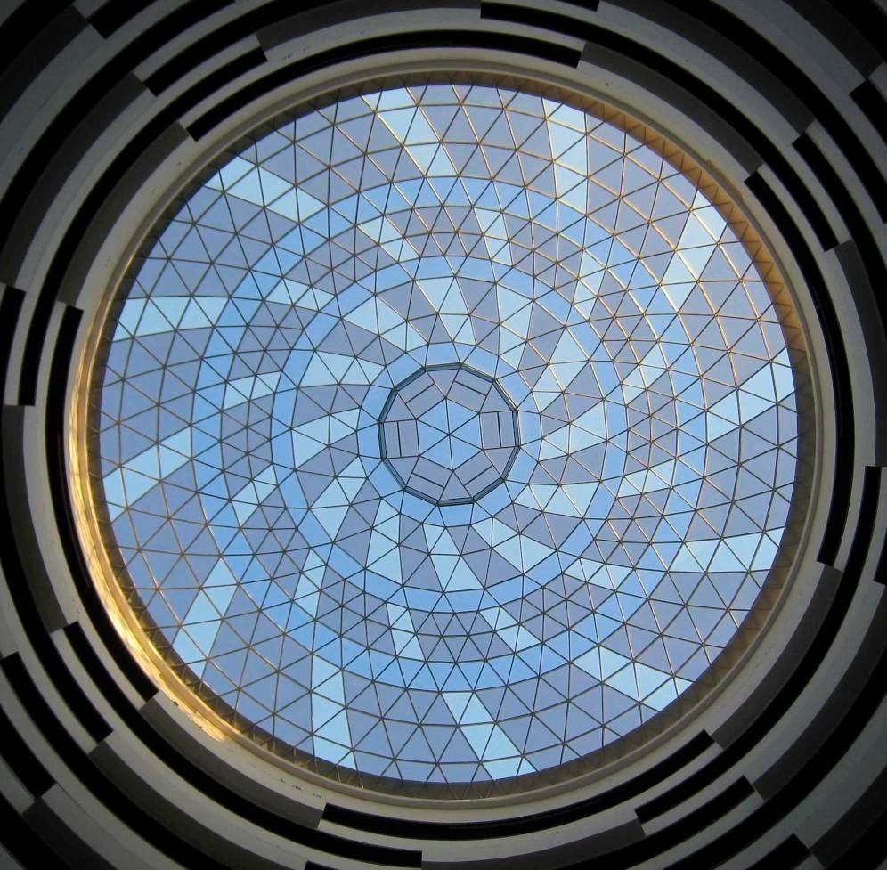 Hyatt Cancun's 37m glass-clad lamella dome