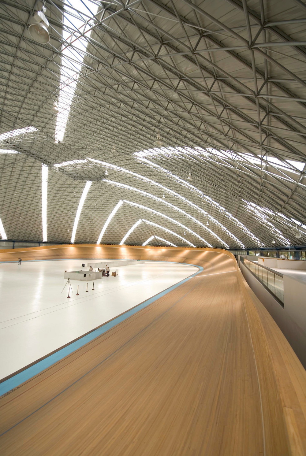 This velodrome accomodates professional cyclists and an occasional music concert