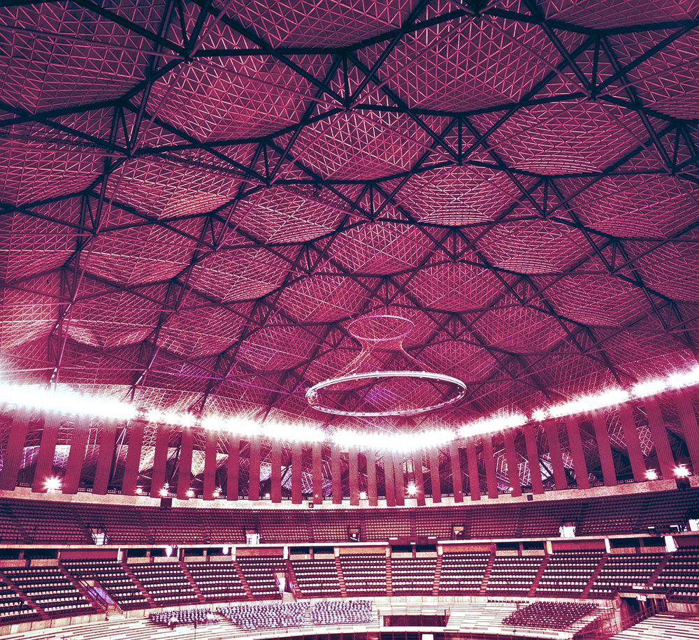 Interior del Palacio de los Deportes.