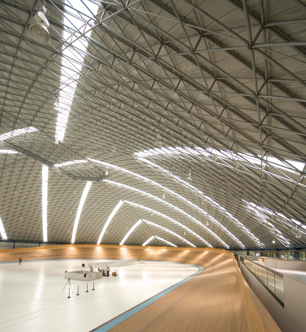 Mexico City's Velodrom interior. This beautiful structure has covered athletic events, rock concerts, and so much more.