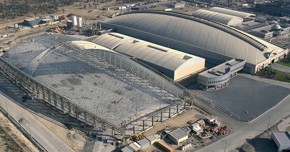 Nemak Dome during construction.