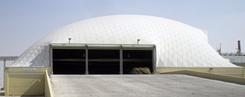 Un Freedome Geométrica cubre el Domestic Solid Waste Management Center en Katar.