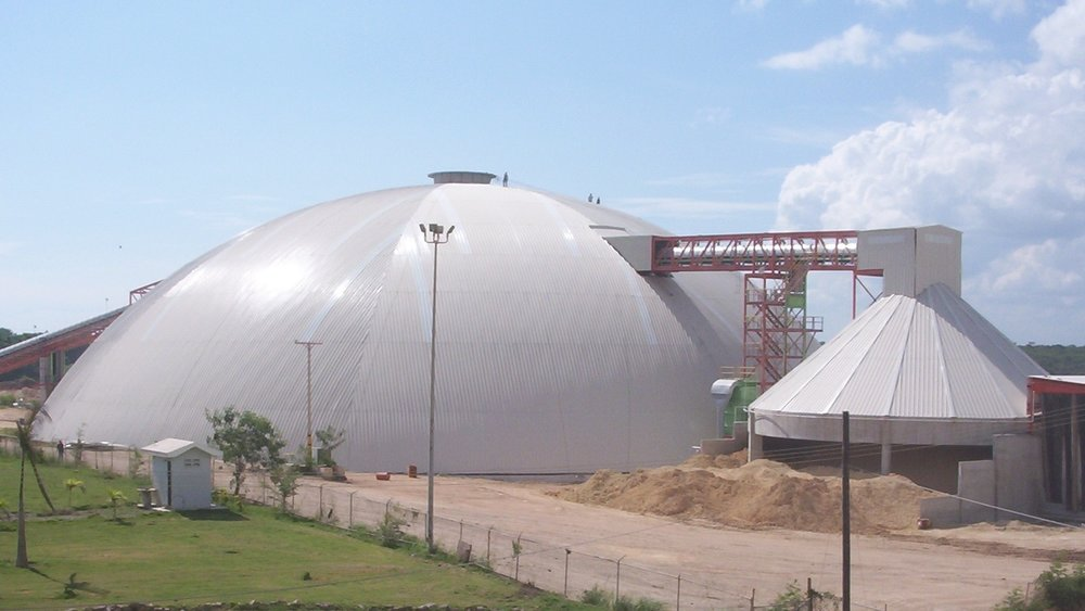 110m raw material storage.