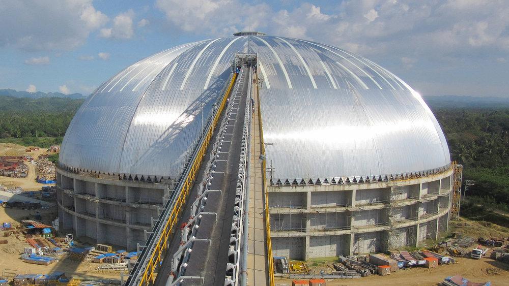 Aboitiz Power Therma Visayas 126m coal dome near Toledo, Philippines.