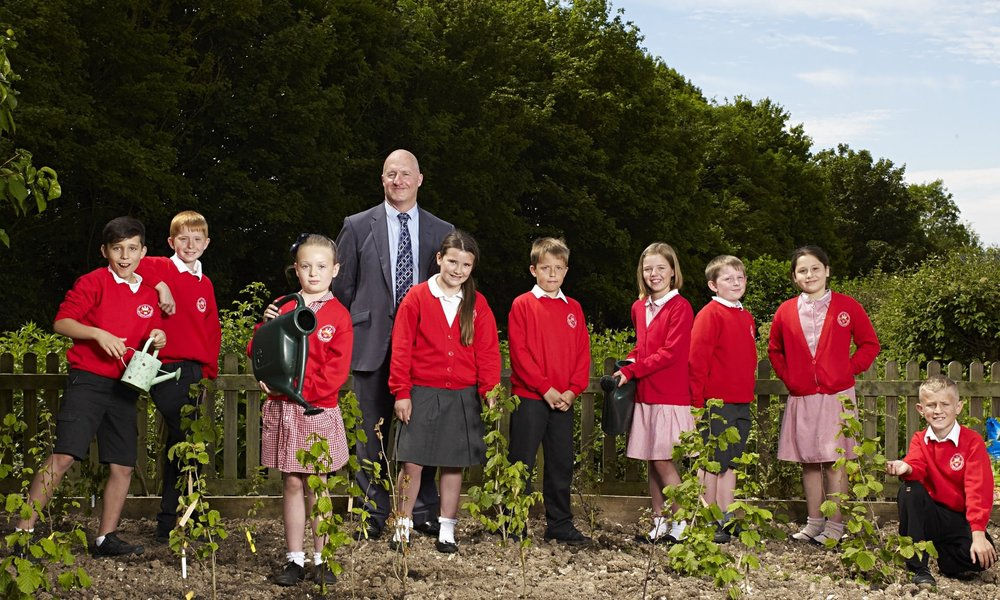 Balksbury Juniors in their tree nursery representing Andover Trees United at the Ethical Awards Photoshoot (2015)